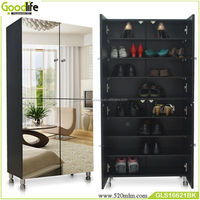 closed shoe cabinet with full length mirror