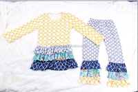 persnickety wholesale ruffle pant sets kids long sleeve cotton winter wear costume for united nations girls