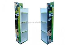 Corrugated cardboard floor display holders dvd displays