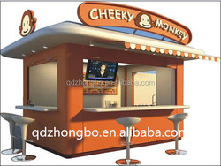 China ISO low cost high quality and beautiful kiosk with sandwich panel