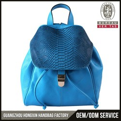 2015 New arrival woman fashion leather backpack bag