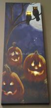 Halloween decoration alibaba express china supplier pumpkin lanterns and owl led printing canvas