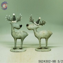 animal metal art statue of metal deer for home decor
