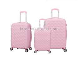 2016 new hot sale luggage set abs trolley durable luggage leisure suitcase girls luggage