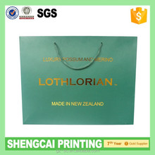 Luxury hot stamping foil paper bag for shopping