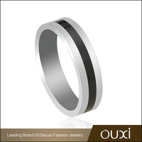 OUXI factory direct sale fashion jewelry stainless steel wedding rings