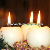 christmas candle jars/paraffin wax christmas tree shaped candles