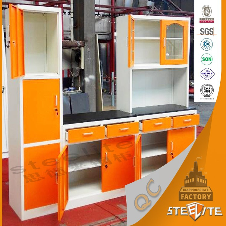 Cheapest new style africa light grey flat pack custom for Steel kitchen cabinets south africa