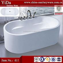 Nanhai product 1 person bath tub, bathroom design bathtub free standing, classical style oval shape bathtub