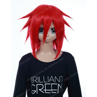 RED spike cosplay hiar wigs short