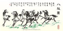 Eight Horses living room backdrop stickers for study room wallpaper