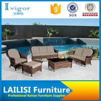 Outdoor garden furniture luxury rattan furniture rattan modern sofa