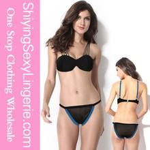 Black Blue Exquisite Cutout Sexy open girl beach bikini