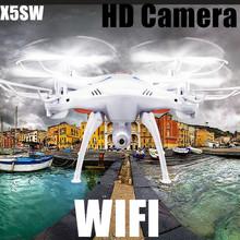 X5SW WIFI HD macchina fotografica senza testa 2.4G tempo reale aereo modello FPV a 6 assi