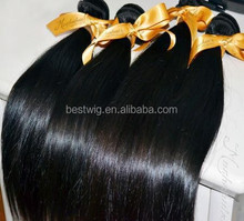 Wholesale best quality brazilian hair sliky peruvian straight hair
