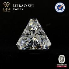 Lab created White triangle princess cut blunt corner faceted gem stone Cubic Zirconia