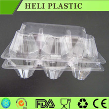 6 Holes clear transparent plastic blister egg tray with cover
