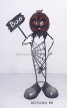 Outdoor Halloween Decoration Items with Spider and Pumpkin
