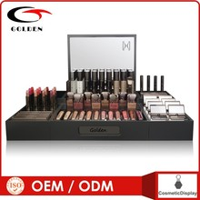 2014 Popular Black Acrylic Pop Display Cosmetic Retail Countertop Displays Stand Unit With OEM
