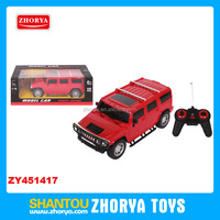 High Speed rc car 1:16 scale 24 MHZ cheap Hummer model RC racing cars toys