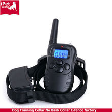 Rechargeable Dog Training Shock and Bark Collar with 100lv Shock and Vibration Mode and Blue LCD Backlight