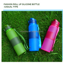 2016 shenzhen factory new novelty water bottle foldable silicone flask/collapsible drinking bottle