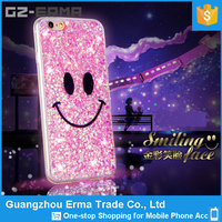 For iPhone 5 Back Cover Housing, Smile Face Bling Giltter Star Phone Shell Cover For iPhone 5