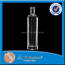 Food grade roll on sealing type 750ml empty glass bottle for wine