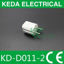 ELECTRICAL adapter with European/U.K plug and switch and CE approval