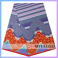 Mitaloo MCT0006 2015 New African Super Wax Printed Fabric Super Wax Print Fabrics