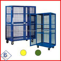 rot proof water proof galvanized powder coated steel warehouse storage cage,metal warehouse storage cage for sale