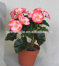 China 2014 bonsai, la mitad de la flor olla, guangzhou sj nuevo diseño de la planta artificial flor en maceta