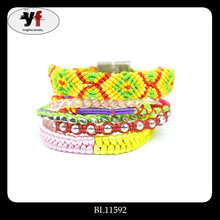 New Hot Fashion Best Friend Cute Charm Silk Rope Bracelet With Crystal