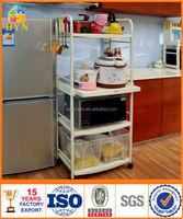 BYN movable 4-tier kitchen utility shelf food trolley DQ-1209 SZ