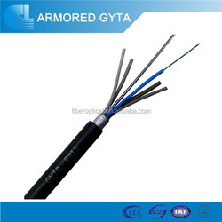 6 core armored stranded loose tube fiber optic cable GYTA