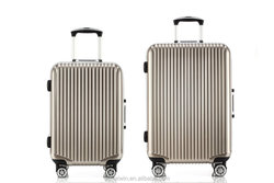 Fashion ABS+PC aluminum frame waterproof trolley luggage