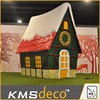 New coming special design Led 3D lights christmas house green on sale