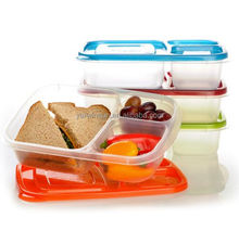 EasyLunchboxes 3-Compartment Bento Lunch Box Containers, Set of 4, Classic/Easy Lunch boxes 3 Compartment Bento Container Storag