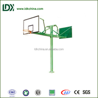 Top quality playground fitness petrel double basketball stand with tempered glass backboard