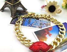 Summer/Autumn fashion red lip woman/lady necklace chain necklace , fashion lip necklace