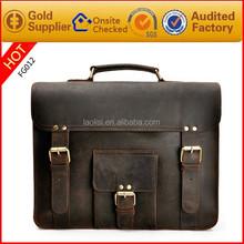 Unique design mens leather laptop bag handmade leather bag india