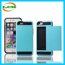 Hot selling TPU + PC Credit card pocket phone case for iphone 6/iphone 6 plus