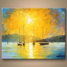 venta al por mayor los paisajes marinos de pinturas al óleo sobre lienzo