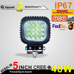 high Quality 48 watt Working led lights 12v offroad auto 48w led working light for car