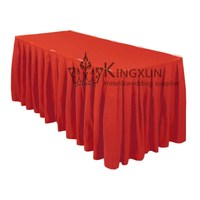 Table Skirt \ Decoraive Ruffled Table Skirts - Red Color