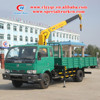 DFAC 4ton Samllest Telescopic Boom Truck with XCMG Crane For Sale