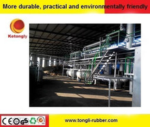 2015 Reliable after sale service waste tyre to oil pyrolysis equipment