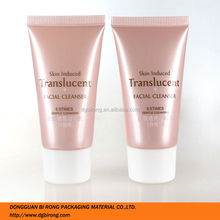 Pearlized Pink Plastic Makeup Samples Cleanser Packaging Tubes