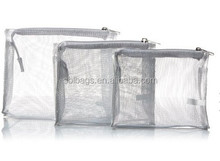 3 Piece Set promotional Cosmetic Bag from alibaba china manufactory / Mesh three pieces set of cosmetic bag