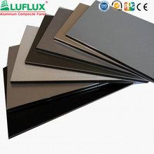 ALUFLUX aluminium cladding sheet prices/aluminum composite panels for wall decoration